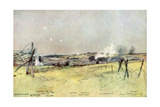 The Church of Ablain and Souchez, Artois, France, 19 June 1915 Giclee Print by Francois Flameng