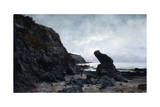 By the Rocks at Low Tide, 1878 Giclee Print by Emmanuel Lansyer
