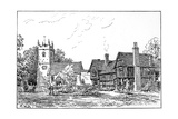 Clifford Church and Old House, Stratford-Upon-Avon, Warwickshire, 1885 Giclee Print by Edward Hull