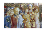 St Laurence before Decius's Tribunal (Detail), Mid 15th Century Giclee Print by  Fra Angelico