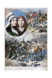 Felicite and Theophile De Fernig, French Heroines, 1792 Giclee Print by Frederic Lix