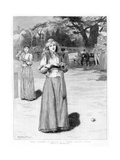 Well Played! - a Sketch at a Ladies' Cricket Match, 1890 Giclee Print by Edward Frederick Brewtnall