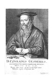 Conrad Gesner, 16th Century Swiss Physician and Naturalist, 1662 Giclee Print by Conrad Meyer