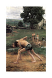 La Lutte' ('Wrestling), 1889 Giclee Print by Emile Friant