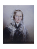 Portrait of Queen Adelaide, 1859 Giclee Print by Edmund Thomas Parris