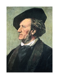 Richard Wagner (1813-188), German Composer, Conductor, and Essayist, Late 19th Century Giclee Print by Franz Seraph von Lenbach