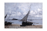 Beached Boats at St Jean, 1884 Giclee Print by Emmanuel Lansyer