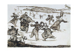 Skaters, Between 1812 and 1823 Giclee Print by Francisco de Goya