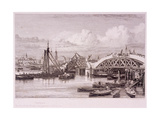 London Bridge, London, 1827 Giclee Print by Edward William Cooke