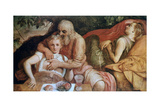 Lot and His Daughters, C1550 Giclee Print by Frans Floris