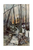 In the Wood of Roucy (Aisn), 15 April 1917 Giclee Print by Francois Flameng