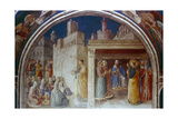 St Stephen Preaching, Mid 15th Century Giclee Print by  Fra Angelico