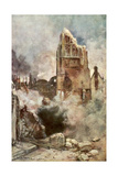 Bombardment of the Belfry, Arras, France, July 1915 Giclee Print by Francois Flameng