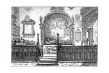 The Pew at Clopton Church, Stratford-Upon-Avon, Warwickshire, 1885 Giclee Print by Edward Hull