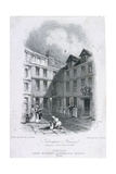 Johnson's Court, Fleet Street, London, 1835 Giclee Print by Edward Francis Finden