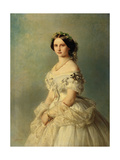 Portrait of Princess Louise of Prussia, 1856 Giclee Print by Franz Xaver Winterhalter