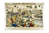 Battle of the Pyramids, 21 June, 1798 Giclee Print by Francois Georgin