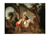 Farewell to the Wet Nurse, 1777 Giclee Print by Etienne Aubry