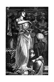 Cleopatra VII (69-30 B), Queen of Egypt, Dissolving Pearls in Wine, 1866 Giclée-tryk af Frederick Augustus Sandys