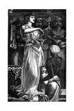 Cleopatra VII (69-30 B), Queen of Egypt, Dissolving Pearls in Wine, 1866 Giclée-Druck von Frederick Augustus Sandys