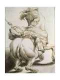 Rider Pierced by a Spear, 16th Century Giclee Print by Francesco Salviati