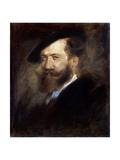 Portrait of the Artist Wilhelm Busch, (1832-190), 1877-1880 Giclee Print by Franz Seraph von Lenbach