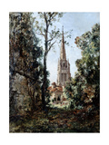 View from Barou Park in the Morning, 1889 Giclee Print by Emmanuel Lansyer