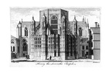 Henry VII Chapel, Westminster Abbey, London, 18th Century Giclee Print by Edward Rooker