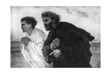 The Apostles Peter and John on the Morning of the Resurrection, 1926 Giclee Print by Eugene Burnand