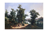 Entrance to the Forest of Saverne, 1838 Giclee Print by Edouard Jean Marie Hostein