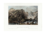Cataract of Ting-Hoo, on the Tripod Lake, China, C1840 Giclee Print by Edward Paxman Brandard