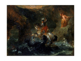 St George Fighting the Dragon or Perseus Delivering Andromeda, 1847 Giclee Print by Eugène Delacroix