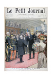 The Visit of the King of Sweden to Paris, 1900 Gicleetryck av Eugene Damblans