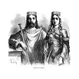 King Clovis I and Queen Clotilde of the Franks, Late 5th - Early 6th Century (1882-188) Giclee Print by Frederic Lix