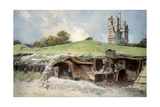 Rescue Station at Mont St Eloi, Artois, France, 6 June 1915 Giclee Print by Francois Flameng