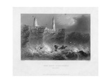Ness Sands Lighthouses, Near Bristol, Goucestershire, 1841 Giclee Print by Francis William Topham