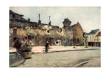 The Barracks at Soissons, France, 1915 Giclee Print by Francois Flameng