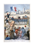 The Raising of the French Flag at Timbuktu, 1894 Giclee Print by Frederic Lix