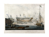 Launch of the East India Company's Ship, the 'Edinburgh' in 1825 Giclee Print by Edward Duncan