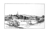 Stratford-Upon-Avon, Warwickshire, as Seen from the Southeast, 1885 Giclee Print by Edward Hull