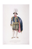 Gentleman in Ceremonial Costume, 1824 Giclee Print by Edward Scriven