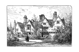 The House of Dr John Hall, Statford-Upon-Avon, Warwickshire, 1885 Giclee Print by Edward Hull