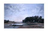 Fishing Boats on the Loire, 1865 Giclee Print by Emmanuel Lansyer