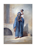 Veiled Egyptian Woman, Mid 19th Century Giclee Print by Emile Prisse d'Avennes