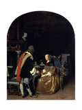 The Oyster Meal, 1659 Giclee Print by Frans Van Mieris