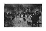 Retour Des Champs-Elysees, C1870-1900 Giclee Print by Felix Hilaire Buhot
