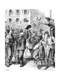 Defence of Paris: Students Going to Man the Barricades, Franco-Prussian War, 1870 Giclee Print by Frederick Barnard