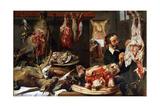 Frans Snyders - A Butcher Shop, 1630S Digitálně vytištěná reprodukce