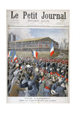 French Troops Embarking for China, 1900 Gicleetryck av Eugene Damblans