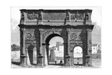 The Arch of Constantine, Rome, Italy, 19th Century Giclee Print by E Therond